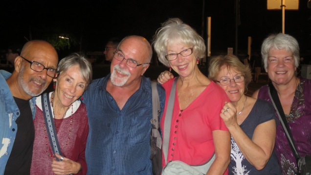 Chris, Sue and friends at Cicada Market